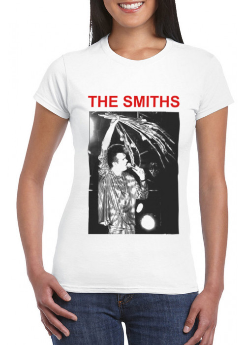 ONLY L, XL & 2XL Avail - Morrissey The Smiths Manchester FTH 1984, White T-Shirt - ©Stephen Wright