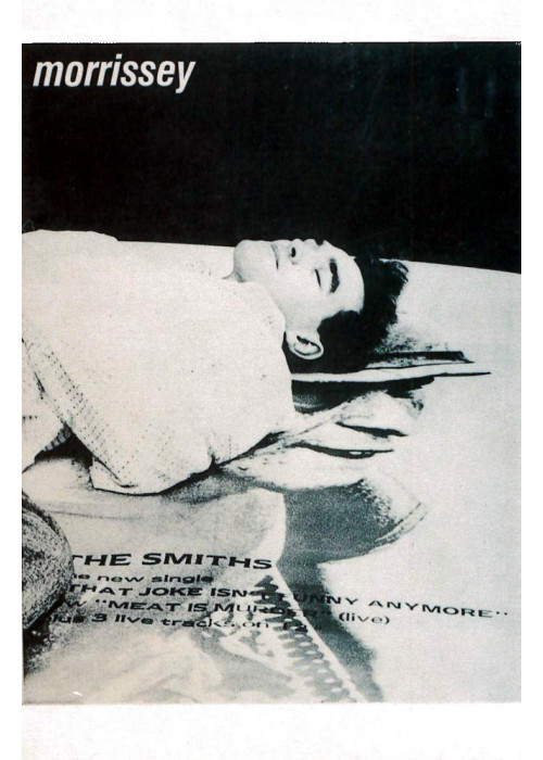 Morrissey over 'That Joke' Poster - The Smiths postcard
