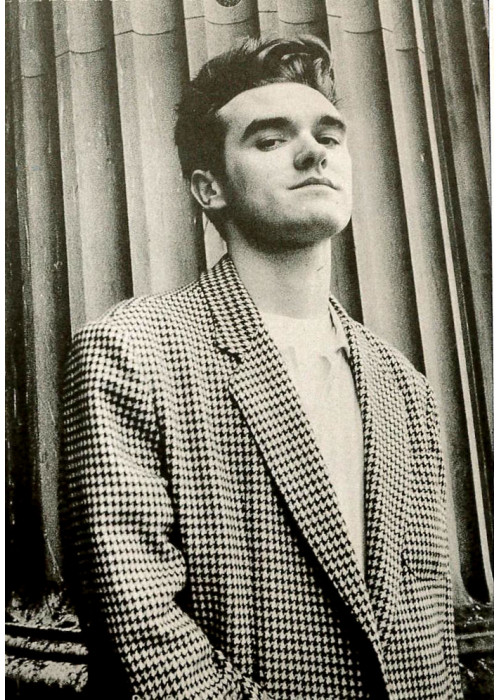 Morrissey of The Smiths with a Blazer Postcard