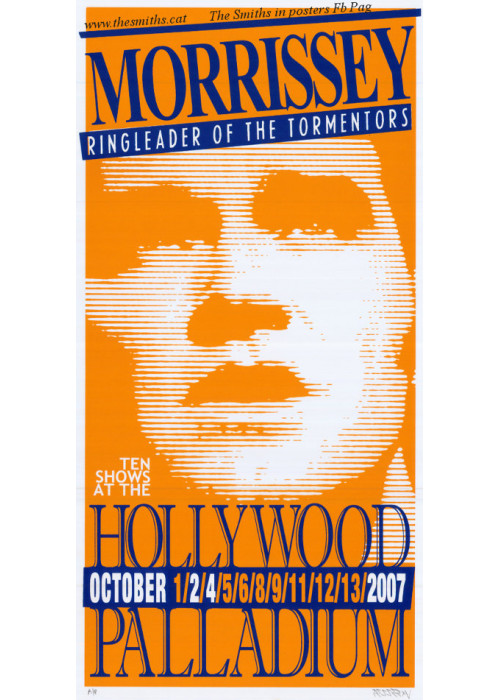Morrissey Poster Tour Hollywood