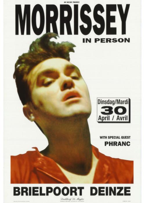 Morrissey Tour Poster in Deinze