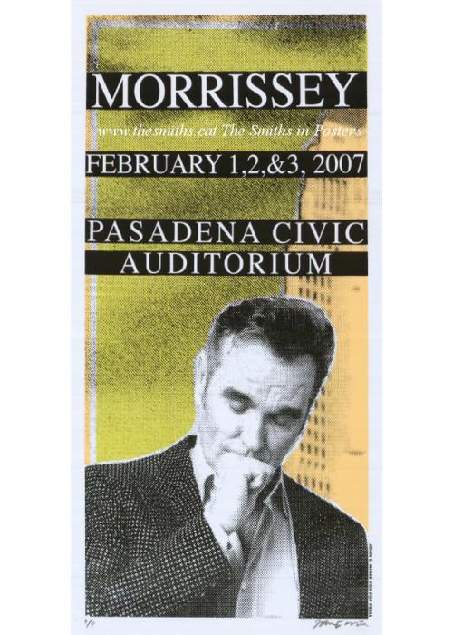 Morrissey Tour Poster Pasadena