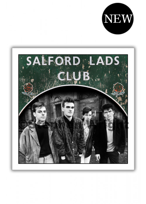 Smiths Salford Lads Club Original Square Print - The Queen Is Dead  SPECIAL EDITION SIGNED
