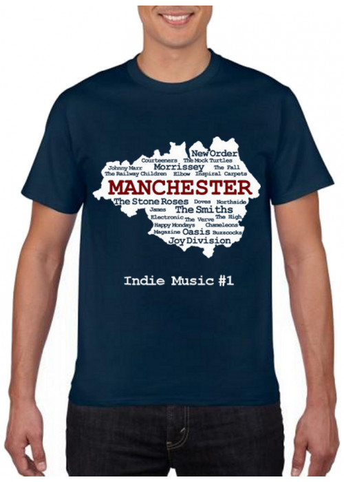 Only S & 4XL Avail.  - Manchester Indie Bands PREMIUM T-Shirt