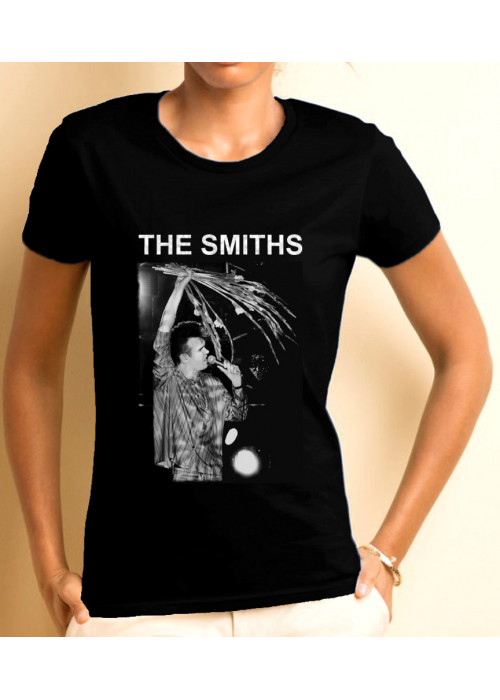 ONLY L, XL & 2XL Avail- Morrissey The Smiths at Manchester FTH 1984, Woman Black T-Shirt - ©Stephen Wright