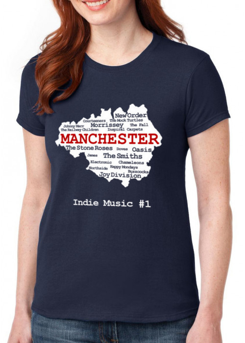 Manchester Indie Bands T-Shirt - WOMEN