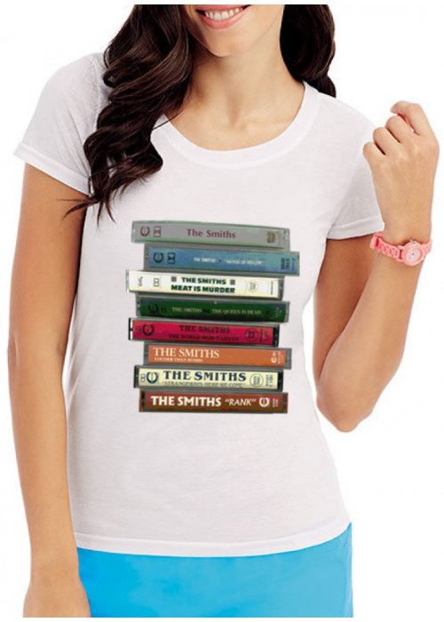 The Smiths Cassettes T-Shirt  - Sublimation Printing LADIES