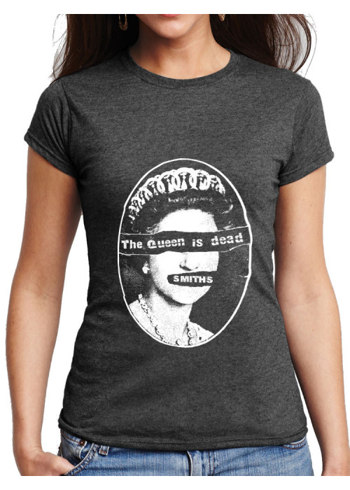 ONLY XL & 2XL AVAIL - Queen Pistols Smiths T-Shirt:  Women Dark Heather