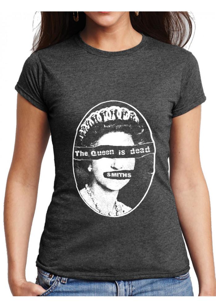 bef59457 Queen Smiths T-Shirt - Pistols version: Women Dark Heather