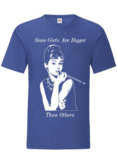 Some Girls Audrey Hepburn - Blue & Dark Heather T-Shirt