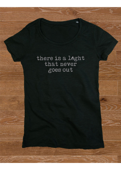 There is a  Light That Never Goes Out Class Fashion T-Shirt - BLACK and TRUE BLUE, WOMEN