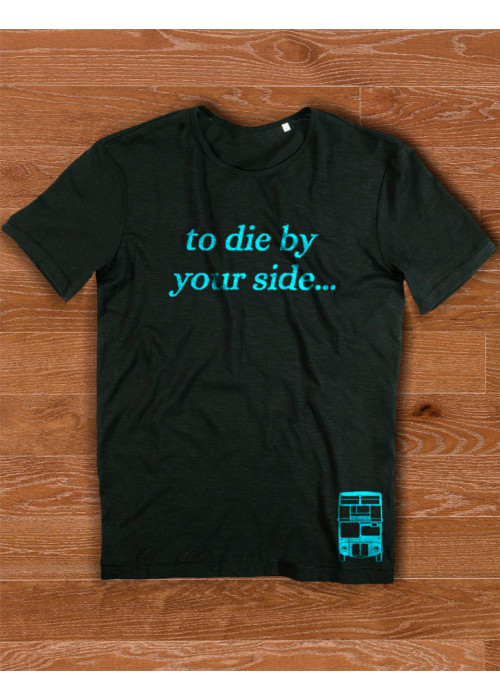 To die by your side Class T-Shirt - Men - Light Blue Letters
